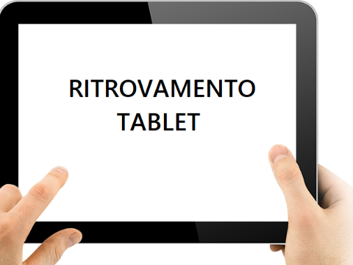 Ritrovamento tablet
